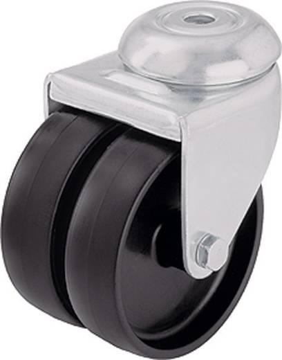 Blickle 106724 dupla terelő görgő készülékhez, 50 mm átmérővel, hátsó furattal, kivitel: dupla görgő hátsó furattal