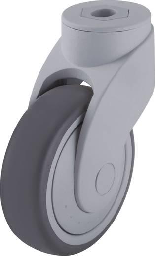Blickle 744738 100 mm-es formatervezett műanyag terelő görgő, WAVE, kivitel: terelő görgő hátsó furattal