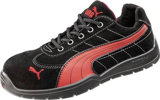 Biztonsági félcipő, S1P, 45, fekete/piros, PUMA