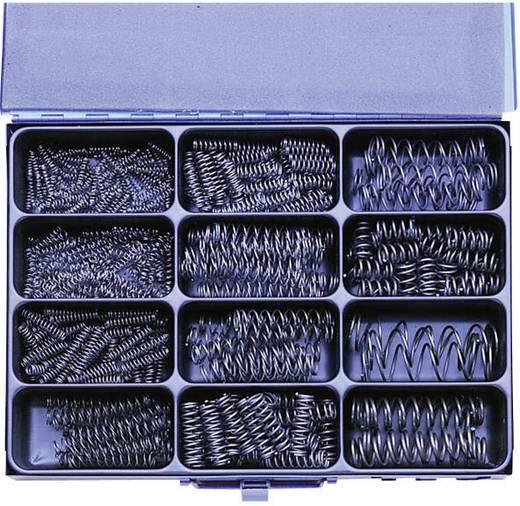 Húzórugó készlet, acéllemez kofferben, 400 részes