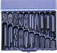Húzórugó készlet, acéllemez kofferben, 350 részes (10279)