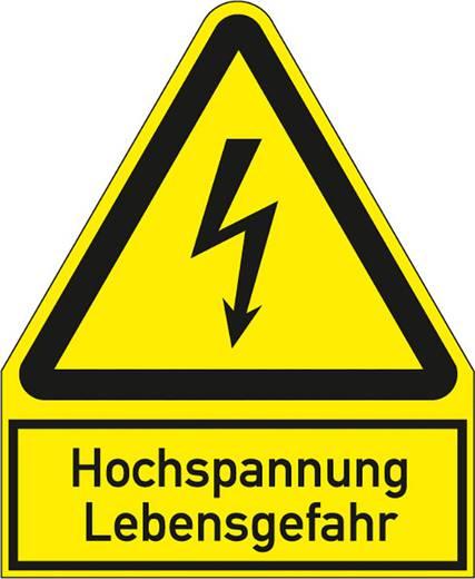 Figyelmeztető tábla, életveszélyes magasfeszültség, 24,4X20CM SL műanyag