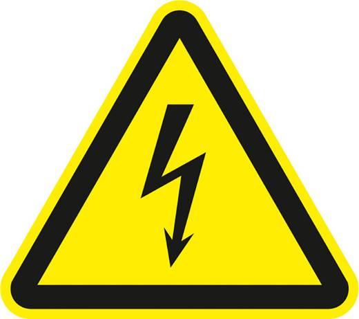Figyelmeztető tábla, eletromos veszély, 2,5CM, fólia, 500 db