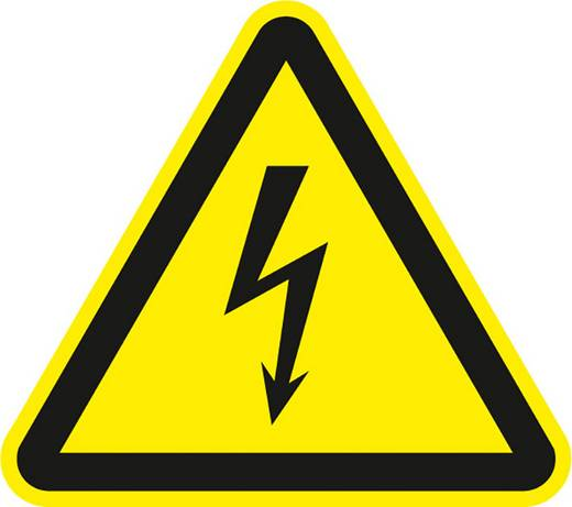 Figyelmeztető tábla, eletromos veszély, 20CM SL, műanyag
