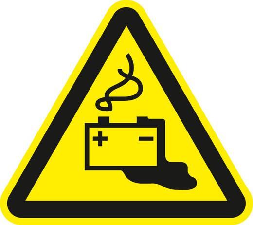 Figyelmeztető tábla, veszélyes elemek, 20CM SL, alumínium