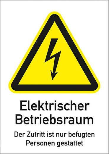 ELektr. üzemi helyiség, 29,7X21CM műanyag