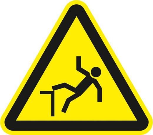 Figyelmeztető tábla, zuhanásveszély, 10CM SL , fólia