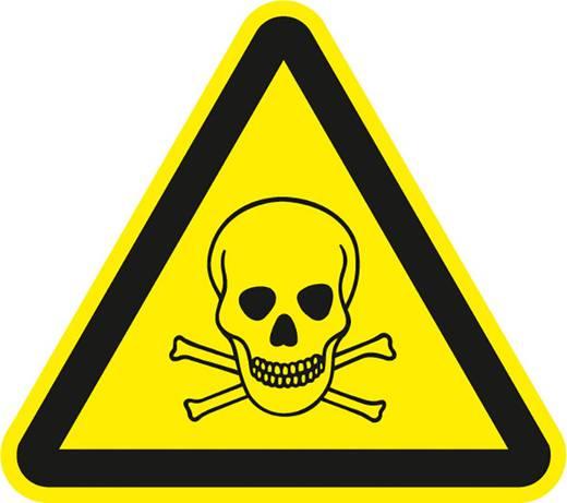 Figyelmeztető tábla, mérgező anyag, 20CM SL , alumínium