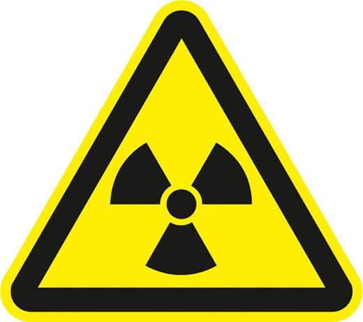 Figyelmeztető tábla, radioaktív anyagokra, 20CM SL, fólia