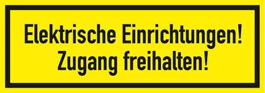 Figyelmeztető tábla, elektromos berendezések, 7,4X21CM FOLIA