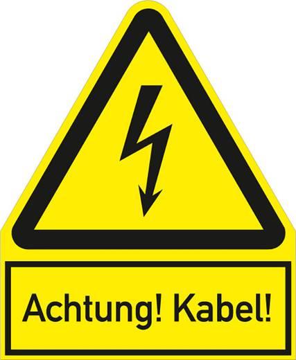 Figyelmeztető tábla - Figyelem! Kábel! 24,4X20CM SL, műanyag