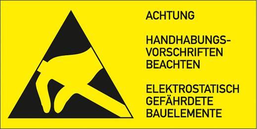Elektrotechnikai figyelmeztető tábla, 3,7X7,4cm 10 db