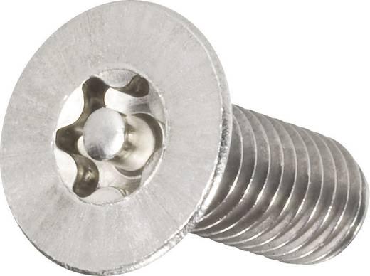 Biztonsági csavarok süllyesztett fejjel, ISO 10642, 25 mm, A2, M4, 10 db, TOOLCRAFT