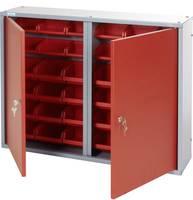 Küpper 70222 Fali szekrény 80cm, 2 ajtó, 36 doboz piros (Sz x Ma x Mé) 80 x 60 x 19 cm Küpper