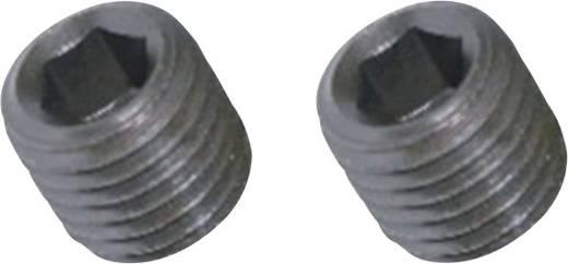 Toolcraft belső kulcsnyílású hernyócsavar, M3 x 3 mm, DIN 916, fekete, 20 db 890265