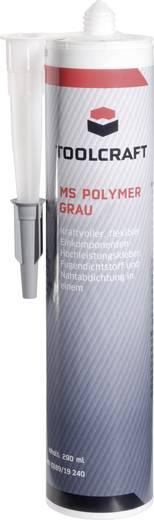 Ragasztó- és tömítőmassza, MS Polymer, 290 ml, szürke, TOOLCRAFT MSP.K290G