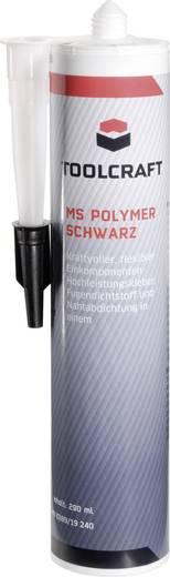 Ragasztó- és tömítőmassza, MS Polymer, 290 ml, fekete, TOOLCRAFT MSP.K290S