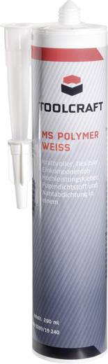Ragasztó- és tömítőmassza, MS Polymer, 290 ml, fehér, TOOLCRAFT MSP.K290W