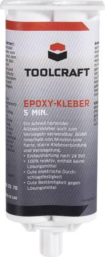 Epoxi ragasztó 50 g, alkalmas: fémek, ferrit, kerámia, márvány, üveg, beton, fa és műanyag, TOOLCRAFT EPO5.K50