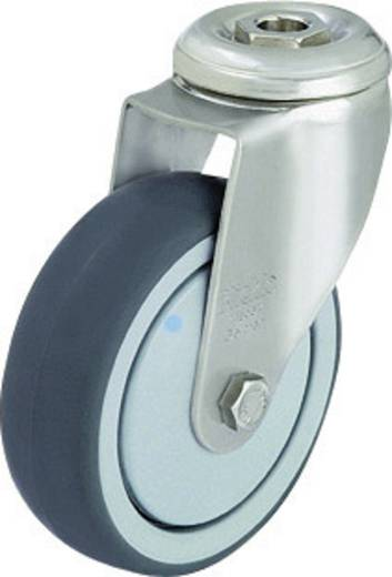 Blickle 574392 Nemesacél készülék terelő görgő hátsó furattal, Ø 100 mm, kivitel: terelő görgő - golyóscsapágy