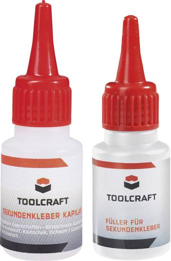 Pillanatragasztó és feltöltőanyag készlet, TOOLCRAFT
