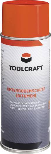 Alvázvédő spray (bitumen), 400 ml, TOOLCRAFT AUBB.D400