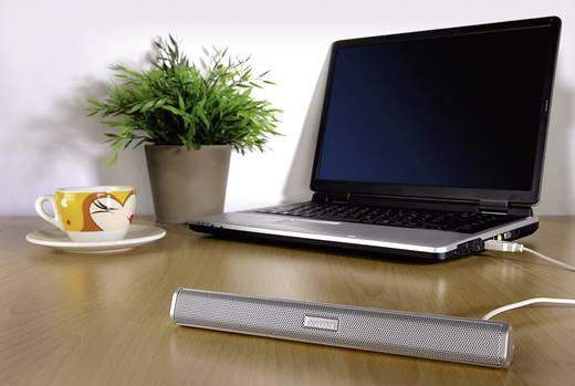 Hordozható mini hangfal, USB-s notebook hangfal, Hama Sonic Mobil 250 Ezüst