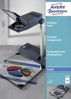 Avery-Zweckform 2502 Overhead-Projektor fólia DIN A4 Tintasugaras nyomtató Átlátszó 50 db Avery-Zweckform