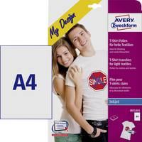 Avery-Zweckform My Design T-Shirt MD1001 Tintasugaras textilfólia DIN A4 Világos textilekhez, Tintasugaras nyomta Avery-Zweckform