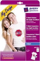 Avery-Zweckform My Design T-Shirt MD1002 Tintasugaras textilfólia DIN A4 Világos textilekhez, Tintasugaras nyomta Avery-Zweckform
