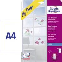 Avery üvegfólia, átlátszó, tintasugaras nyomtatóhoz, 4 db, MD3002 Avery-Zweckform