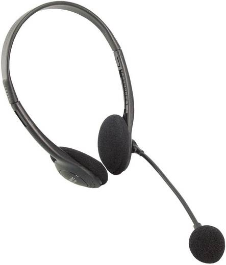 Sztereo headset fejhallgató mikrofonnal, LogiLink Easy
