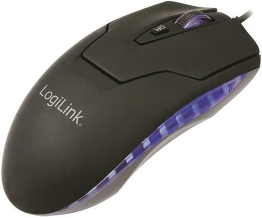 USB-s lézeres egér, LED-es megvilágítással, LogiLink ID0009A