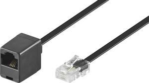 ISDN Hosszabbítókábel [1x RJ45 dugó, 8p4c - 1x RJ45 alj, 8p8c] 10.00 m Fekete Basetech Basetech