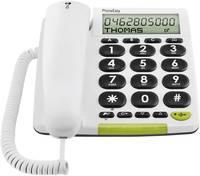 Vezetékes nagygombos asztali telefon időseknek, fehér, Doro PhoneEasy 312cs doro
