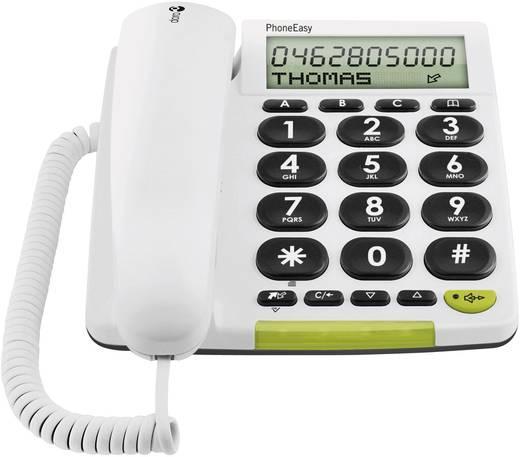 Vezetékes nagygombos asztali telefon időseknek, fehér, Doro PhoneEasy 312cs