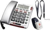 Vezetékes nagygombos vészhívó telefon időseknek AudioLine BigTel 50 Alarm Plus Amplicomms