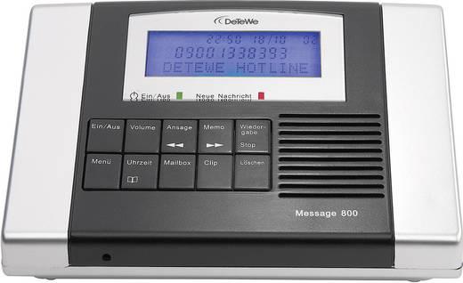 Üzenetrögzítő 30 mp rámondott szöveg hosszal és 106 perc felvételi idővel, DeTeWe Message 800