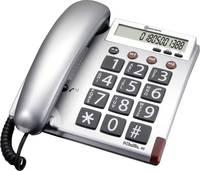 Vezetékes nagygombos asztali telefon időseknek, Audioline BigTel 48 Amplicomms