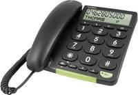 Vezetékes nagygombos asztali telefon időseknek, fekete, Doro PhoneEasy 312cs doro