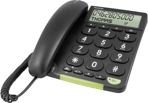Vezetékes nagygombos asztali telefon időseknek, fekete, Doro PhoneEasy 312cs