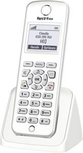 AVM FRITZ!Fon M2 Vezeték nélküli VoIP telefon Bébiszitter, Kihangosító Világító kijelző Fehér, Ezüst AVM