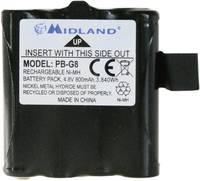 Midland Megfelelő eredeti akku PB G6/G8 Rádiójel vezérlésű készülék akku 4.8 V 800 mAh Midland