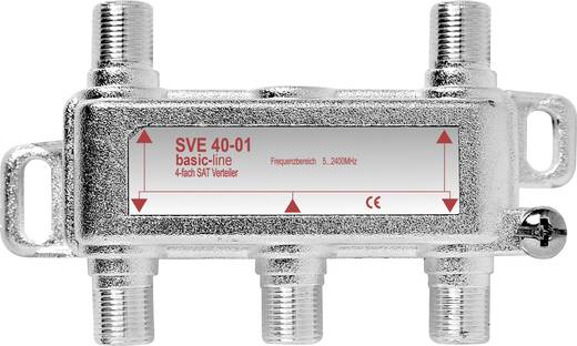 F csatlakozós antenna elosztó 1 bemenet - 4 kimenet 5 - 2400 MHz SVE 40-50