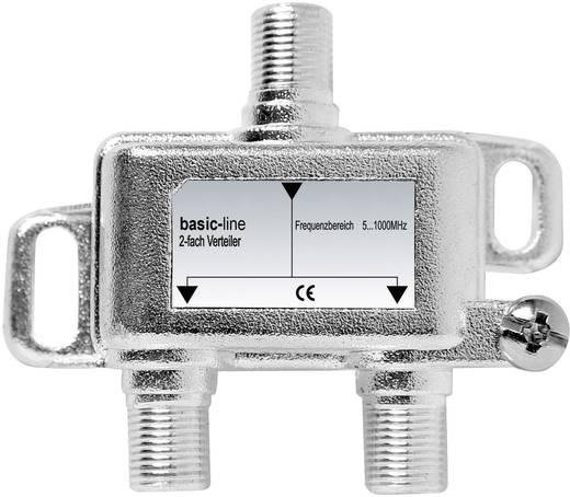 F csatlakozós antenna elosztó, 1 be-/2 kimenet, BVE 20-50