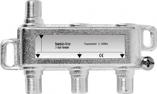 F csatlakozós antenna elosztó, 1 be-/3 kimenet, Renkforce