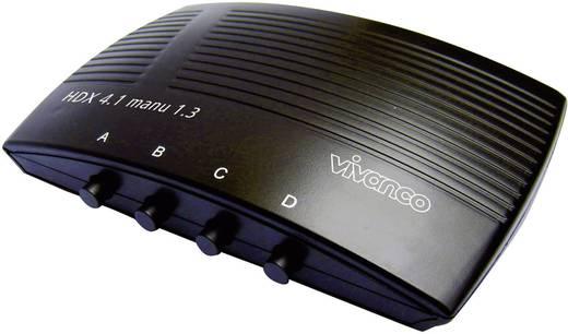 HDMI átkapcsoló, 4 portos, 4 be/1 ki, 1920x1080 pixel, fekete, Vivanco 25350