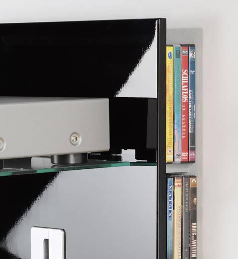 Fali tartó konzol, polcos elem üvegből, fekete színű VCM Xeno 1 19017