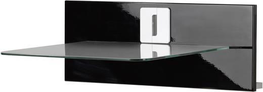 Fali tartó konzol, polcos elem üvegből, fekete színű VCM Xeno 1 19020