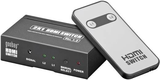 HDMI elosztó, 2 utas, be 2/ki 1, goobay